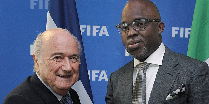 Blatter hails Pinnick-led NFF's vision, energy and drive