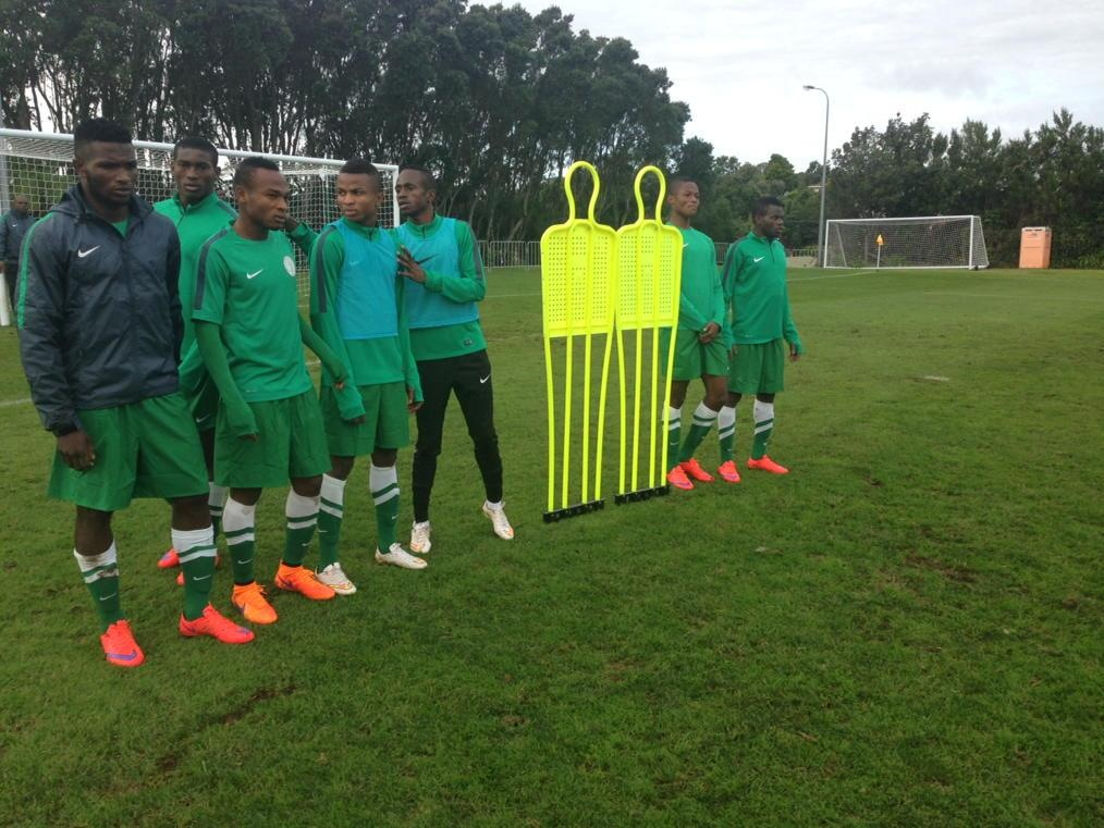 Flying Eagles defy pouring rain to train for must-win match