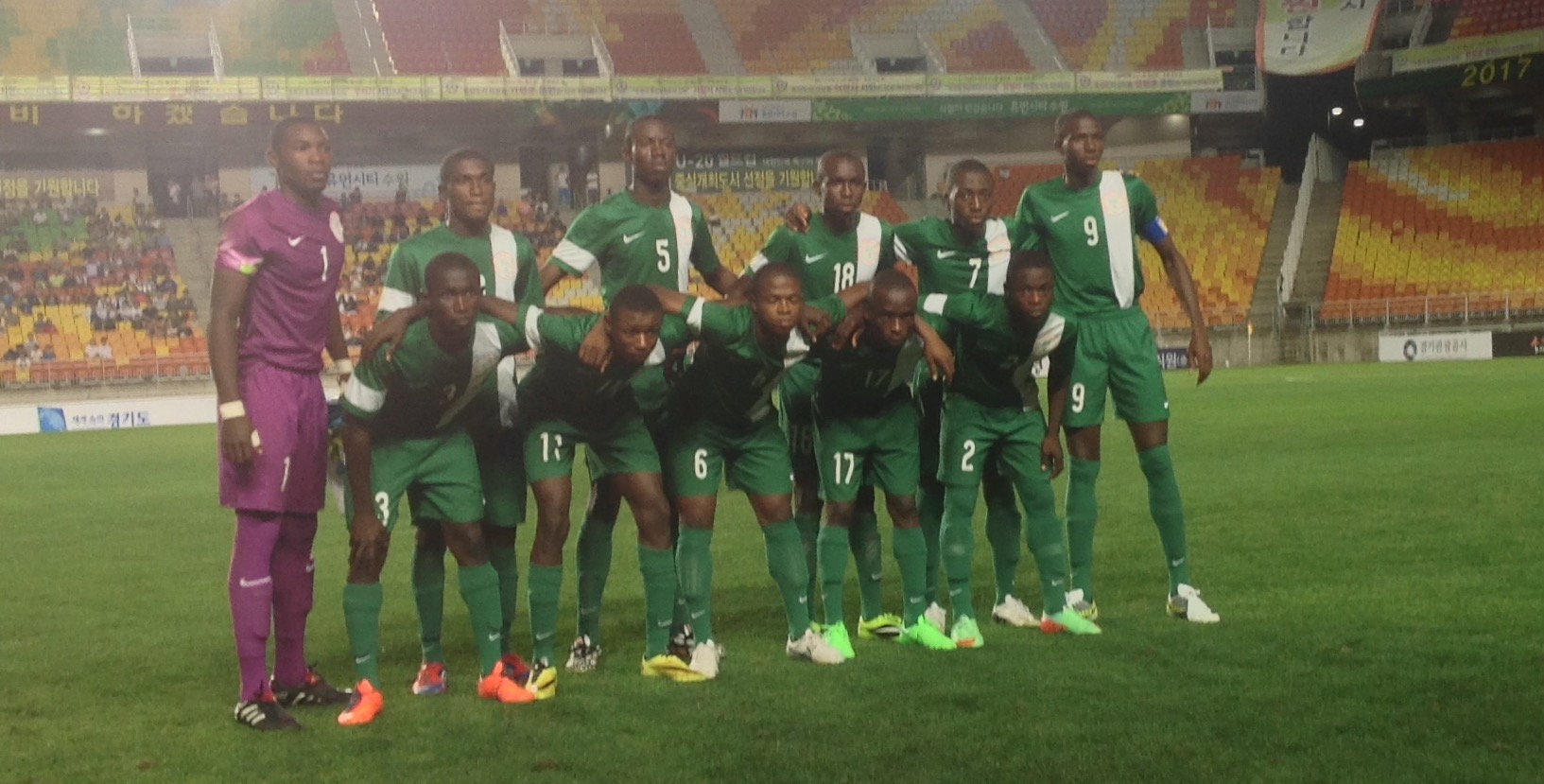 NFF commends Eaglets for good conduct in Korea