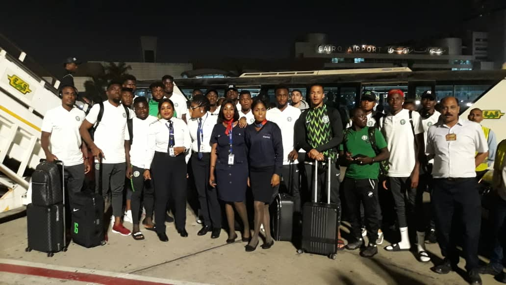 Nigeria's 23-man AFCON squad lands in Ismailia