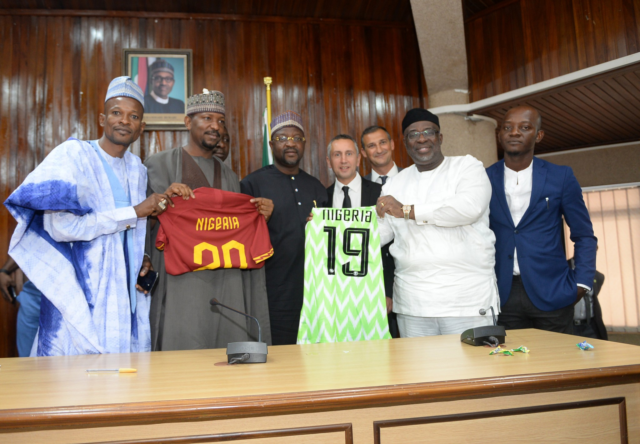 Nigeria Football Federation and AS Roma agree a collaborative  partnership