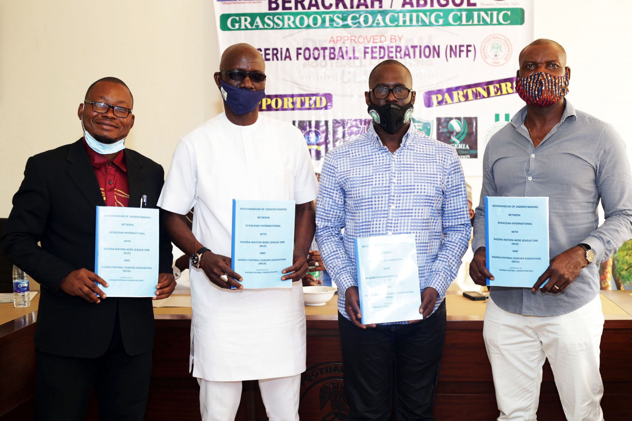 Grassroots Football: NLO signs MOU with Berackiah Football Coaching Clinic