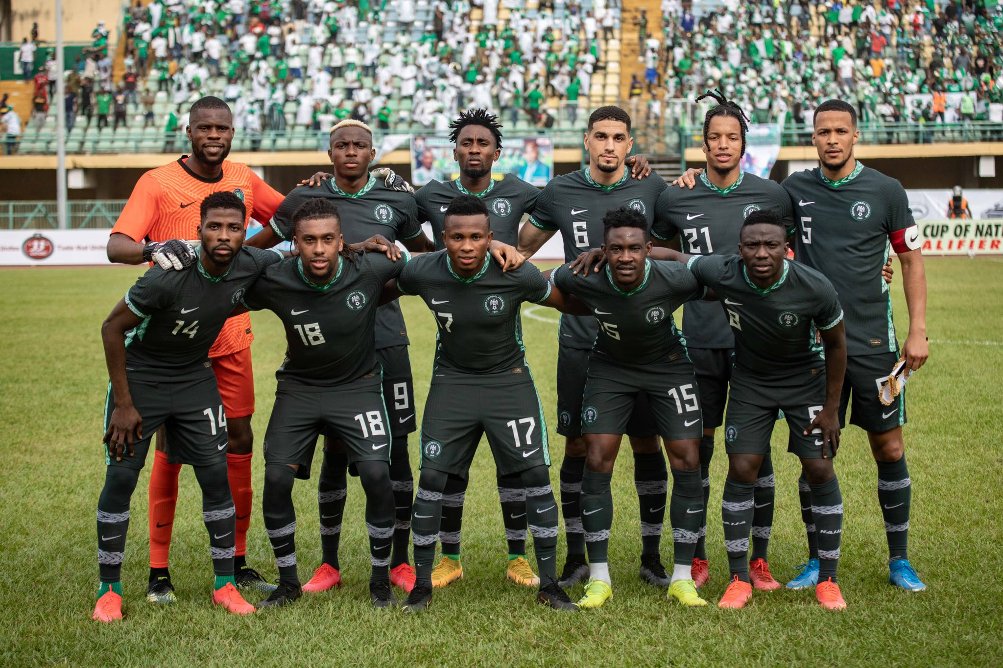 Super Eagles trounce Crocodiles to round off AFCON race in style