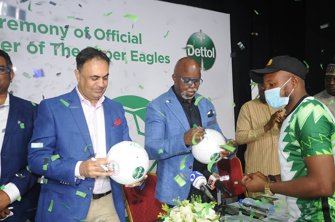 Excitement as Dettol becomes Official Hygiene Partner of the Super Eagles