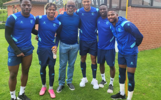 Qatar 2022 Race: Pinnick confident of Eagles' strength-in-depth as he watches Etebo's first training at Watford