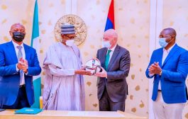 Infantino in ecstasy over meetings with President Buhari, First Lady, pours encomiums on Pinnick